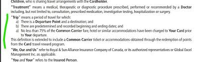 not sure why the fuss not to pay with the aeroplan visa card here s the relevant section of the td agreement followed by cibc below it