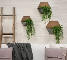 naomi pine wood wall mounted planters