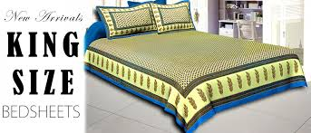 Buy Printed King Size Bed Sheets line Jaipur Fabric