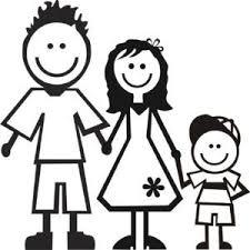 Disegno Stilizzato Di Una Famiglia Composta Da Papà Mamma E Bambino