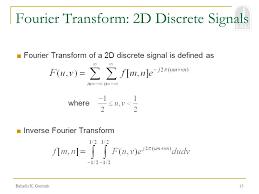 15 fourier transform 2d discrete signals