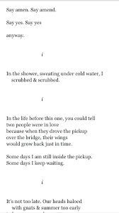 """This is a poem from Ocean Vuong. I believe it is titled """"On Earth We Are  Briefly Gorgeous."""" but I feel some part… 