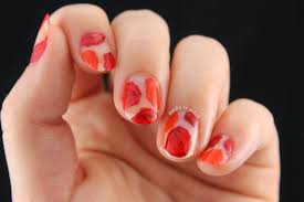 Partial to Polish: Orange and Red Negative Space Rose Nail Art!