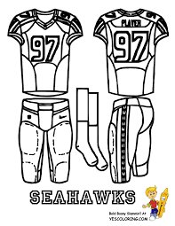 Small Picture Big Play NFC Football Uniform Coloring Page Free NFL Falcons