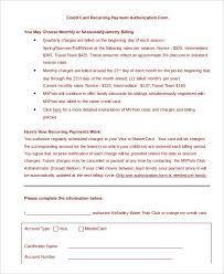 automatic withdrawal form template credit card authorization form template 10 free sample example