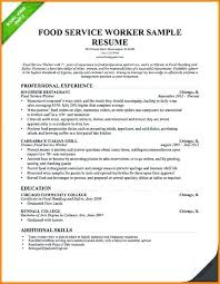 Resume Food Service Stunning Service Industry Resume For Food Sample In Regarding And Resume Ideas