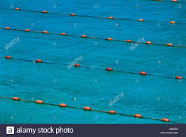 close up of tracks lanes in swimming pool stock image