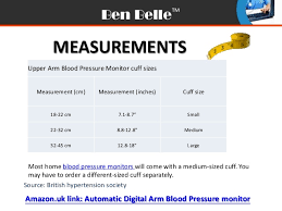 Blood Pressure Cuff Size Chart How To Choose Cuff And Positioning The Cuff For Home Blood