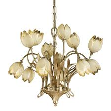 satin french gold gold leaf finish chandelier w glass 319 6 6
