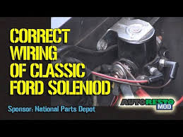 wiring diagrams ford starter solenoid the wiring diagram 1964 to 1970 ford solenoid wiring episode 245 autorestomod wiring diagram