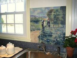 Kitchen Wall Mural Kitchen Excellent Ideas For Kitchen Decoration Using Stencil