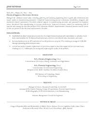 Engineering Resumes Samples Amazing Chemical Engineer Resumes Engineering Resume Sample Format