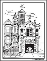 old victorian house coloring pages for grown ups coloring pages This Old House Table Plans this old house looks so neat next to the fire station, adult coloring page ask this old house picnic table plans