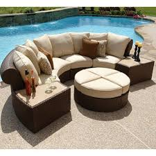 patio furniture sectional ideas:  sectional patio set isola wicker outdoor patio sectional furniture set  pc outstanding