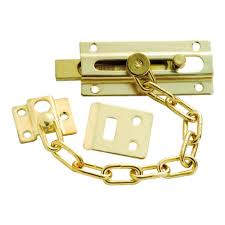 Image Child Proof Polished Brass Chain And Bolt Door Guard Pezcamecom First Watch Security Polished Brass Chain And Bolt Door Guard1879