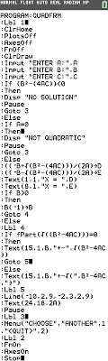 quadratic formula program ti 84 math