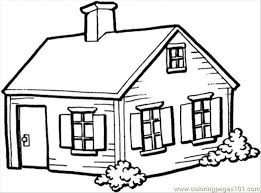 Small Picture House Free Coloring Pages on Art Coloring Pages