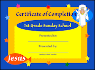 certificates of completion for kids free sunday school graduation certificates