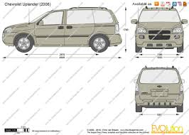 The-Blueprints.com - Vector Drawing - Chevrolet Uplander