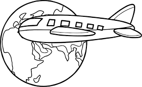 Small Picture Excellent Ideas Globe Coloring Page Airplane Travel Around