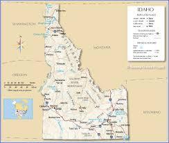 idaho maps new map  roundtripticketme