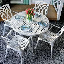 white 4 seater aluminium garden furniture set 1