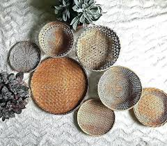 decorative wall baskets inspirational vintage oval brown woven wicker basket trivet large bask my cur obsession colorful woven baskets