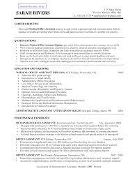 Medical Assistant Objective Resume Medical Assistant Sample Resume Resume Samples 7