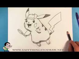 How To Draw Detective Pikachu Pokemon Step By Step For Beginners