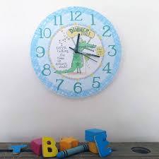 personalised kids wall clock