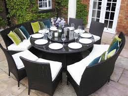 awesome round outdoor dining table for 10 dining table for 8 to 10