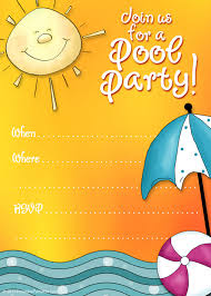 pool party birthday party invitations templates fun pool birthday party invitations templates
