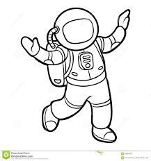 Libro Da Colorare Astronauta Illustrazione Vettoriale