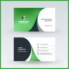 Green Card Template Abstract Green Business Card Template Vector 02 Free Download