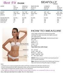 Seafolly Swimwear Size Chart Elite Fashion Swimwear