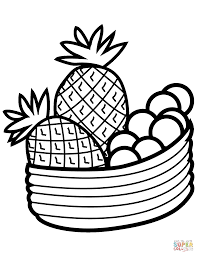 Bowl With Fruits Coloring Page Free Printable Coloring Pages