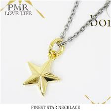 sharp a men s lady s uni accessories silver 925 star pop house of shinjuku silver pmr yellow gold coating star silver necklace