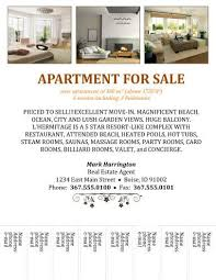 Apartment Flyer Ideas For Rent Flyer Template Word For Rent Flyer Template Word