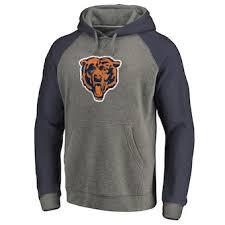 Men's Tall Pullover Chicago Tri-blend Gray Throwback Pro Bears Big amp; Line Fanatics Hoodie By Nfl Raglan navy Branded Logo