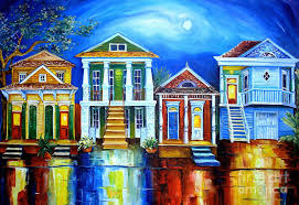 new orleans artist painting moon over new orleans by diane millsap