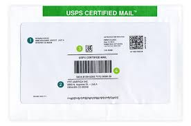 certified mail envelopes