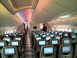 qatar airways boeing 787 dreamliner economy cl cabin