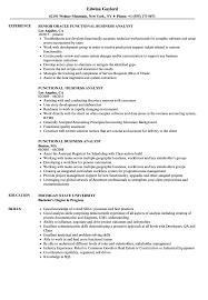 Functional Business Analyst Resume Samples Velvet Jobs