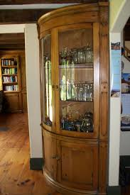 attractive corner curio cabinet for interior furniture and decorating custom curved corner curio cabinet design