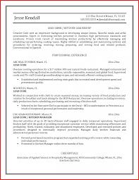 customer evaluation form cook chefs sample resume format word