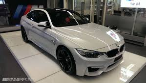 BMW Convertible 2015 bmw m4 white : Mineral White M4 & Black Sapphire M3
