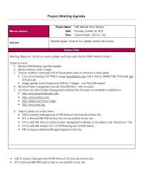 Status Meeting Template Post Project Review Meeting Agenda Template