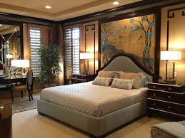 oriental style bedroom furniture. traditional master bedroom with upholstered bed and headboard carpet crown molding asianinspired mural oriental style furniture s