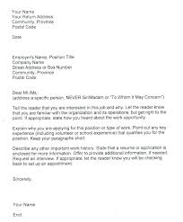 Samples Of Cover Letters For Jobs Cover Letter Job Application