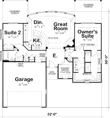 1436 sq ft if get full basement stairs take out study contemporary style house plans 1 story 2 bedroom and 2 bath 2 garage stalls by monster house